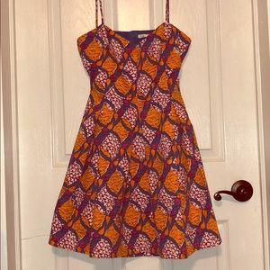 Zara Open Back Detail Summer Dress